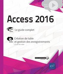 Access 2016 - Complément vidéo : Création de table et gestion des enregistrements
