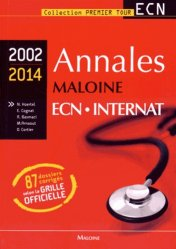 Annales maloine ECN Internat 2002 - 2014