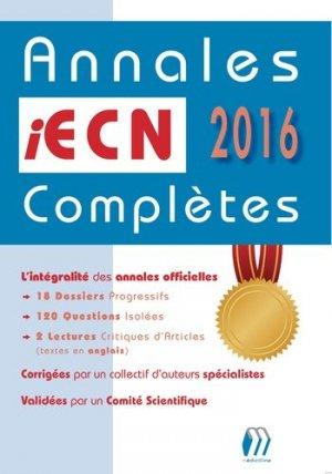 Annales iECN 2016 complètes-medicilline-9782915220926