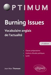 Burning issues vocabulaire anglais de l'actualite