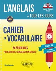 Cahier de vocabulaire anglais