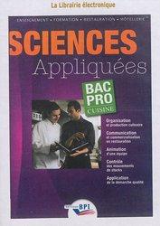 Cd sciences appliqu es bac pro cuisine rougier mairey for Programme bac pro cuisine