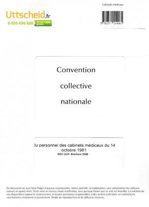 Convention collective nationale Cabinets Médicaux 2016 + Grille de Salaire-uttscheid-9782371554061