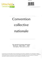 fe835f5ad87 Convention collective nationale des cabinets et cliniques vétérinaires 2016  + grille de salaire