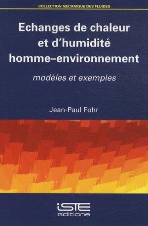 Echanges de chaleur et d'humidité homme-environnement-iste -9781784051099