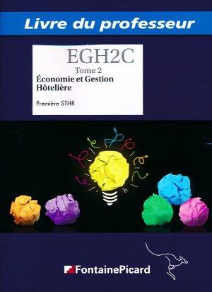 Économie et Gestion Hôtelière - Livre professeur-fontaine picard-9782744628719