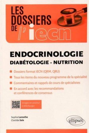 Endocrinologie - Diabétologie - Nutrition-ellipses-9782340009431