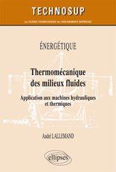 Énergétique - Thermomécanique des milieux fluides