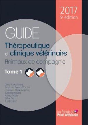 Guide thérapeutique et clinique vétérinaire 2017 - deux tomes-du point veterinaire-9782863263655