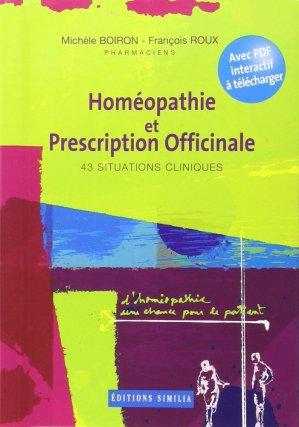 Homéopathie et prescription officinale 43 situations cliniques-similia-9782842510619
