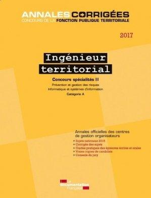 Ingenieur territorial 2017 concours spécialités II Annales-la documentation francaise-9782111450776