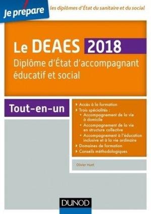 Je prépare le DEAES 2018 - Diplôme d'Etat d'accompagnement éducatif et social - Tout-en-un-dunod-9782100769896