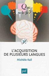 L'ACQUISITION DE PLUSIEURS LANGUES QSJ 4005