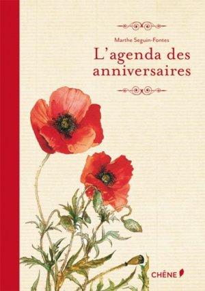 L'agenda des anniversaires-du chene-9782812305498
