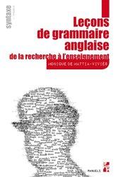 Leçons de grammaire anglaise : de la recherche à l'enseignement