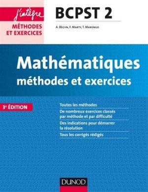 Mathématiques et informatique Méthodes et Exercices BCPST 2e année-dunod-9782100749089