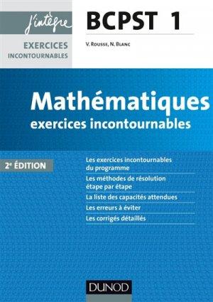 Mathématiques Exercices incontournables BCPST 1-dunod-9782100766338
