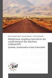 Matériaux argileux barrières de confinement de déchets radioactifs