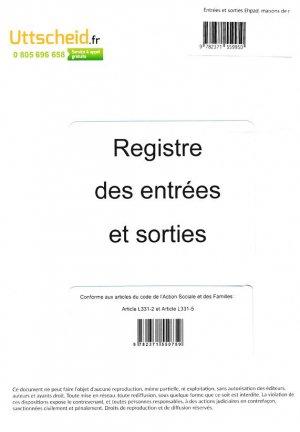 Registre des Entrées et Sorties des résidents d'EHPAD et de Maison de retraite-uttscheid-9782371559950