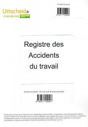 Registre des accidents du travail-uttscheid-9782371559998