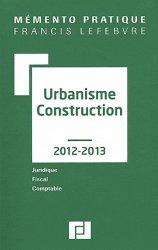 Urbanisme construction  édition 2012-2013