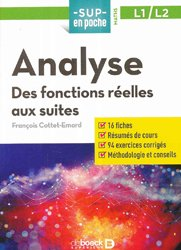 Analyse : des fonctions aux suites, L1-L2
