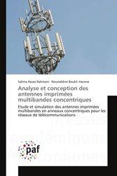 Analyse et conception des antennes imprimées multibandes concentriques
