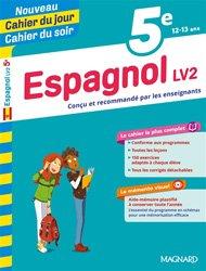CAHIER JOUR CAHIER SOIR ESPAGNOL LV2 5E