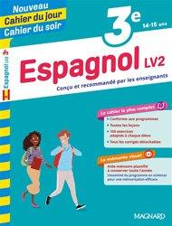 CAHIER JOUR CAHIER SOIR ESPAGNOL LV2 3E