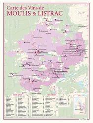 Carte des Vins de Moulis et de Listrac