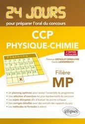 CCp PhysiquePhysique 24 jours pour préparer l'oral du concours CCP