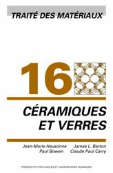 Céramiques et verres (TM volume 16)