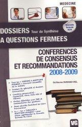 Conférences de consensus et recommandations 2008-2009