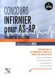 Concours d'entrée IFSI - Épreuve de sélection AS/AP  2015