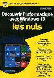 Découvrir l'informatique avec windows 10 mégapoche pour les nuls