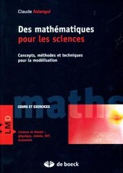 Des mathématiques pour les sciences