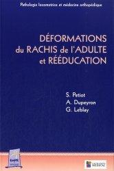 Déformations du rachis de l'adulte et rééducation