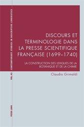 Discours et terminologie dans la presse scientifique française (1699-1740)