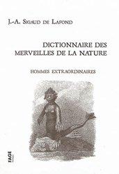 Dictionnaire des merveilles de la nature