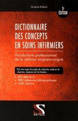 Dictionnaire des concepts en soins infirmiers