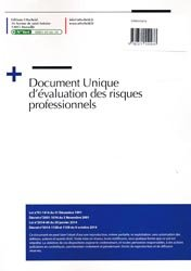 Document unique Métier : Vétérinaire - Clinique vétérinaire - Version 2016