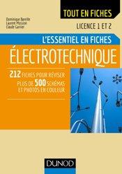 Électrotechnique - Licence 1 et 2 - L'essentiel en fiches