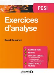 Exercices d4Analyse PCSI