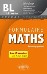 Formulaire Maths BL 1er&2e années
