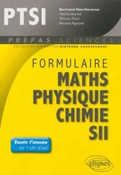 Formulaire PTSI Maths - Physique - Chimie - SII