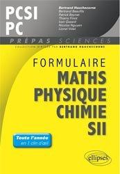 Formulaire Mathématiques - Physique-Chimie -SII - PCSI/PC