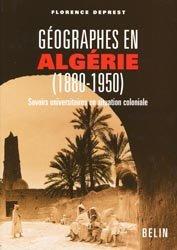 Géographies en Algérie (1880-1950)