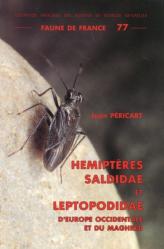 Hémiptères Saldidae et Leptopodidae d'Europe occidentale et du Maghreb