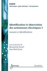 Identification et observation des actionneurs électriques 1