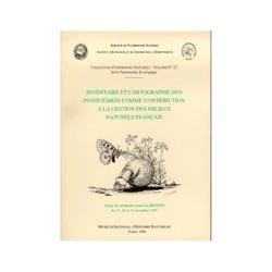Inventaire et cartographie des invertébrés comme contribution à la gestion des milieux naturels français